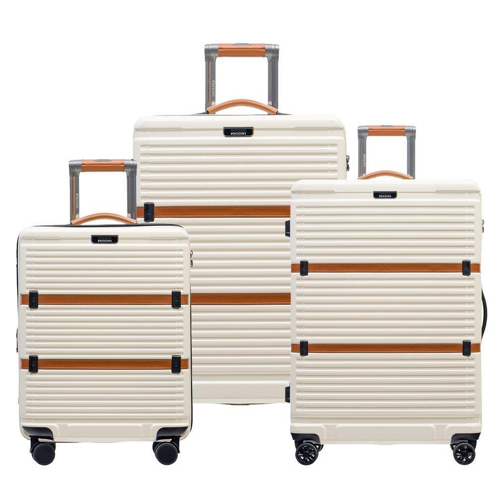 7e14287d7ca54 Zestaw walizek PUCCINI OXFORD ZWPC023 8 Białe - Bagażownia.pl